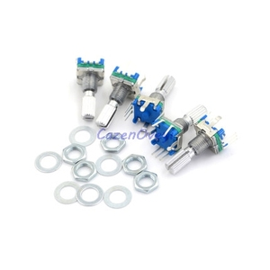 5pcs/lot Plum handle 15mm rotary encoder coding switch / EC11 / digital potentiometer with switch 5 Pin In Stock(China)
