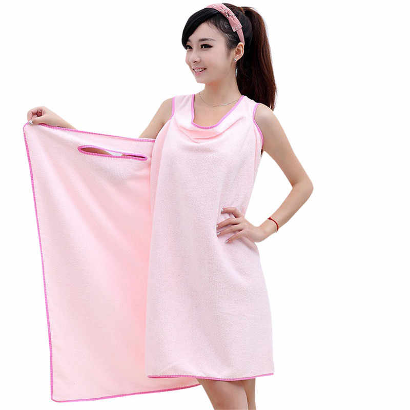 Sexy Absorbent Bathroom Gown Towels Microfiber Women Bath Towel Wearable Beach Towel Soft Beach Wrap Skirt Super Bathroom Towels