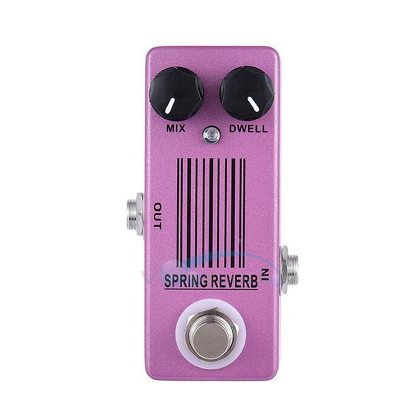 Mosky Spring Reverb Guitar Effect Pedal Mini Single with True Bypass Switching Guitar Parts & Accessories aroma aov 3 ocean verb digital reverb electric guitar effect pedal mini single effect with true bypass
