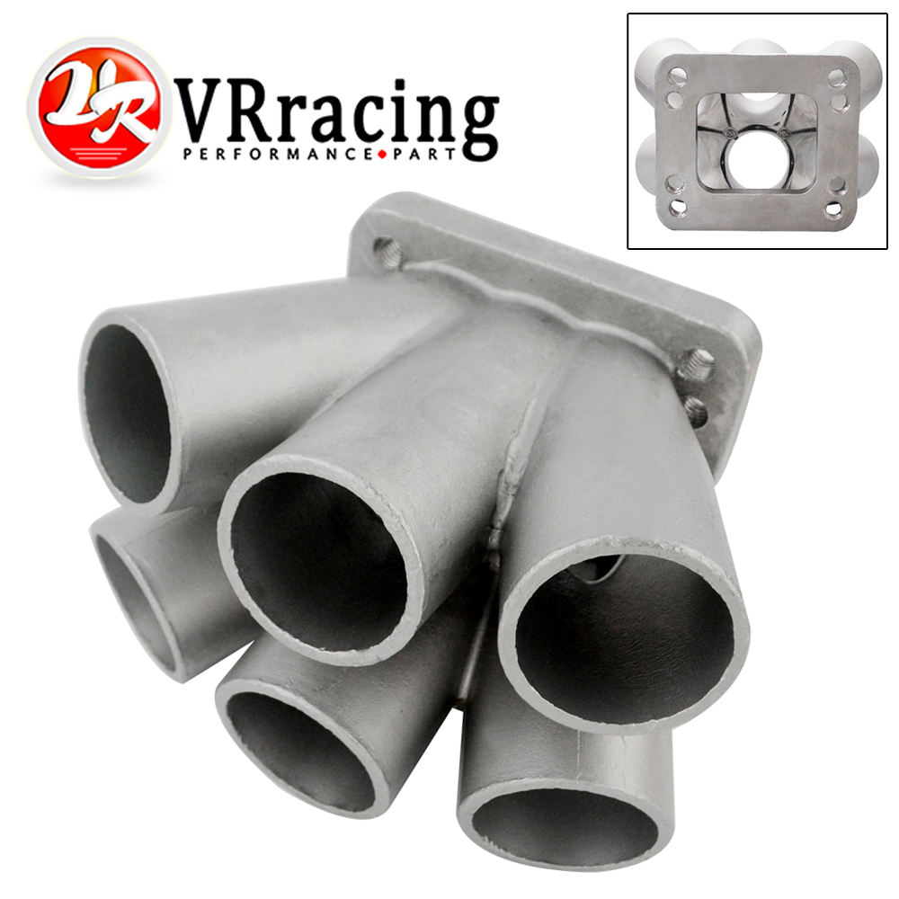 Collecteur de fusion T3 T4 de collecteur d'en-tête de Turbo de l'acier inoxydable 6-1 de VR-Cast avec la bride T3 VR-THM01-6