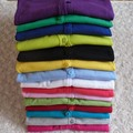 Hot venda mulheres Ladies doces doces da cor manga longa casaco Cardigan Sweater