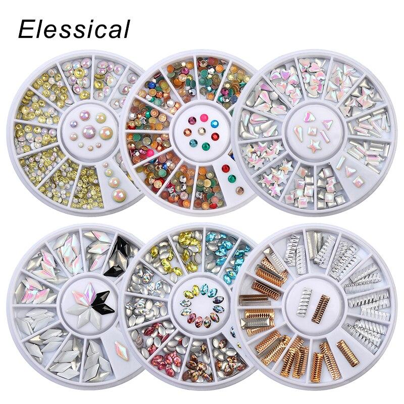 ELESSICAL Mixed Muti color Metal Nail Jewelry Rivet Studs