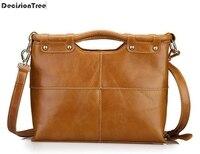 Luxury Women Handbags Genuine Leather Satchels Crossbody Bags Ladies Solid Shoulder Messenger Bags Casual Designer Tote