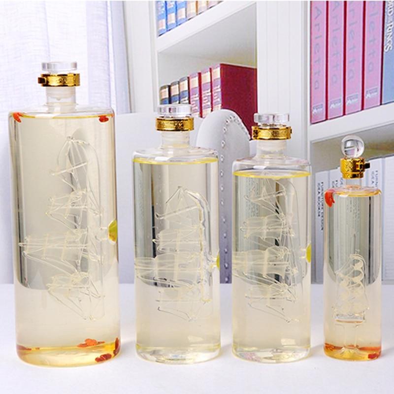 No 2230 Glass Bottle Sail Boat Interior Decorative Creative Ornaments Birthday Gift Home Cabinet Decoration Liquid