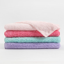AOKEE New 4 Colors  1pcs 100% Coral Fleece Absorbent Dry Towl Reactive Print Hotel Towel 34*80cm Fabric Soft A0551
