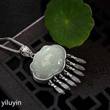 KJJEAXCMY  S990 cut - out lace open rich and pure silver Thai silver antique sweater pendant