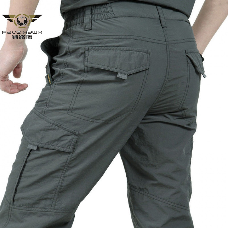 PAVEHAWK Tactical Cargo Pants Breathable lightweight Waterproof Quick Dry Casual Men