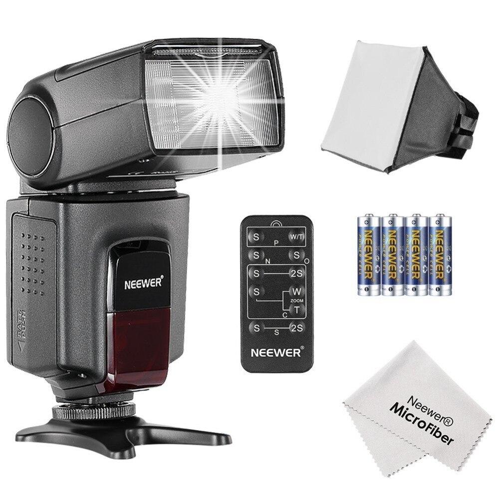 Neewer TT560 Speedlite Kit Flash pour Canon Nikon Olympus Fujifilm et tout appareil photo numérique avec un support de chaussure chaude Standard