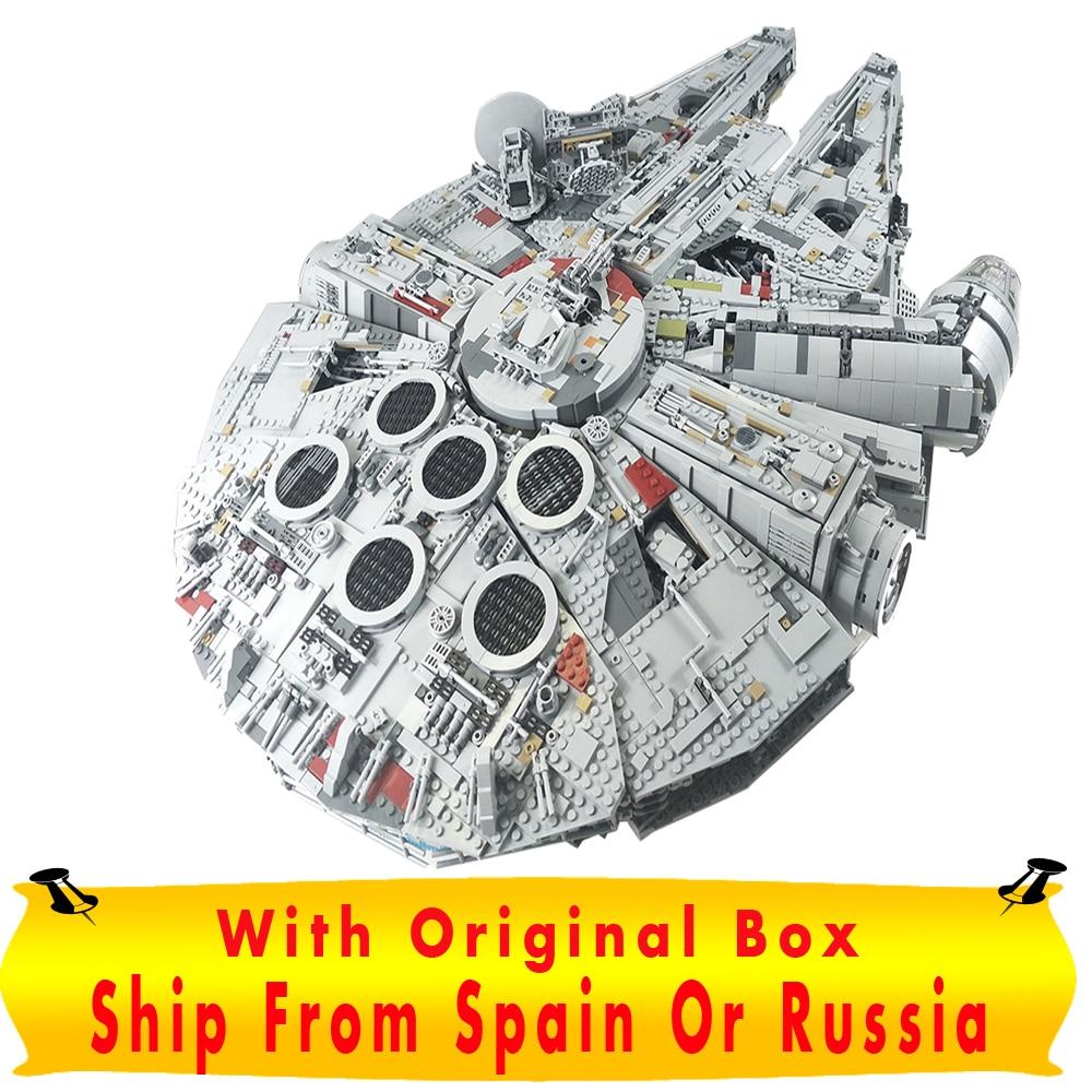 Star Wars Lepin Millennium Falcon Ultimate coleccionista serie 05132