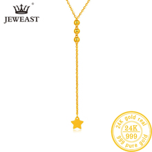 24K Pure Gold Necklace Real AU 999 Solid Gold Chain Beautiful Leaf Upscale Trendy Classic Party Fine Jewelry Hot Sell New 2020