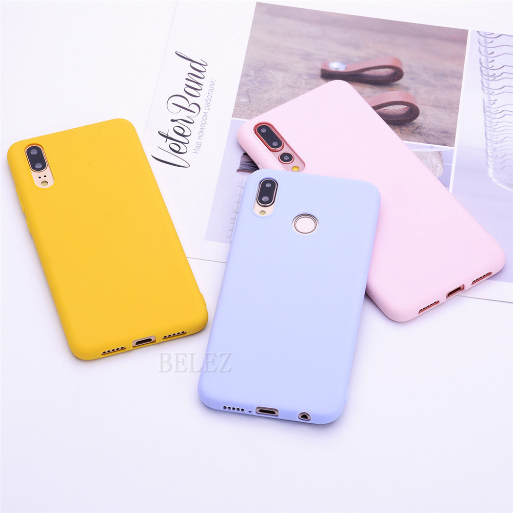 Candy Color Case For Huawei P Smart 2019 P30 Pro P20 Mate 20 Lite Pro Y9 Y6 2018 On Honor 8C 8X Max 10 7A 7C Nova 3I 3 TPU Cover