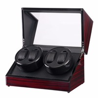 Glossy 4 Grids Watch Winder Box watch Shaker for Watches Shop Display Rotate Watch case Automatic Casket Caja de reloj