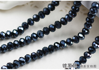 5040 AAA Plated Black Bile Color Loose Crystal Glass Rondelle Beads 2mm 3mm 4mm 6mm 8mm