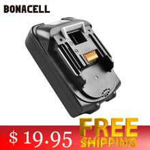 Bonacell For Makita BL1830 18V 2000mAh Power tools battery replacement BL1815 BL1840 LXT400 194204-5 194205-3 194309-1 L30 1 pc new replacement rechargeable batteries for makita 18v 18 volt 4 0ah 4000mah bl1830 bl1840 lxt400 194205 3