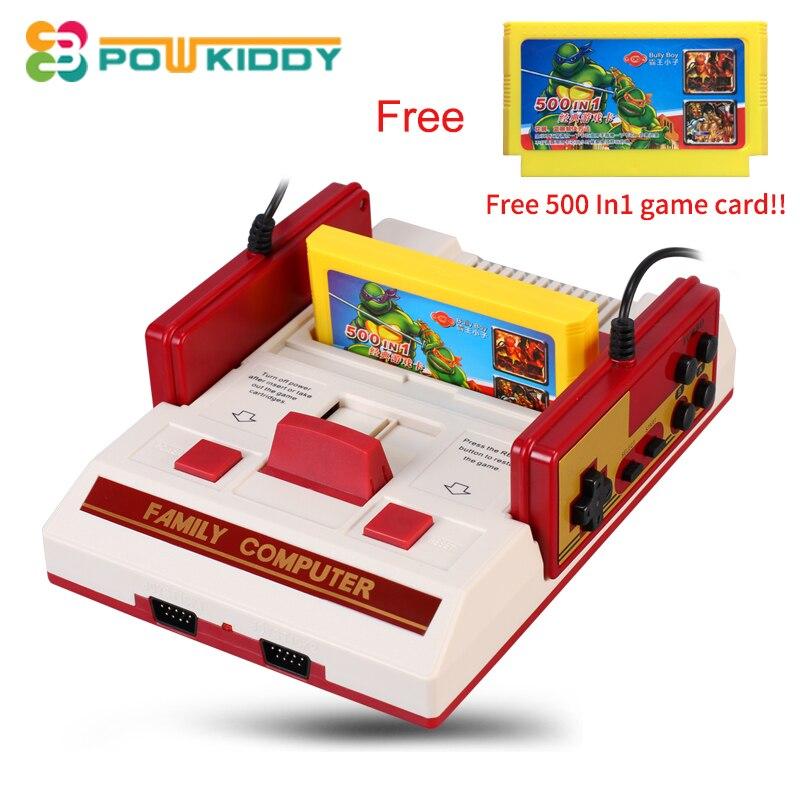 W superbly POWKIDDY Gorąca sprzedaż rodzina tv konsola gier wideo 8 bitowych XF75