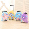 Baby Boys Girls Cartoon Trolley School Bags/Children 30*23CM Suitcase On Wheels/Kindergarten Cute Plush Animal Luggage Backpack