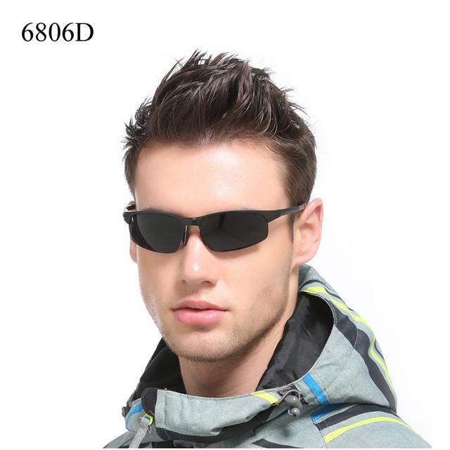 Alta Qualidade Marca Designer Revestimento Óculos Polarizados Óculos de Condução Óculos De Sol Dos Homens de Alumínio E Magnésio Frame Da Liga de óculos de sol Luneta De Soleil
