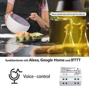 Image 5 - مفتاح واي فاي ذكي 2500 وات مرحل لاسلكي RF433 مفتاح حركي تحكم صوتي يعمل بالطاقة الذاتية مع أليكسا جوجل IFTTT الحياة الذكية