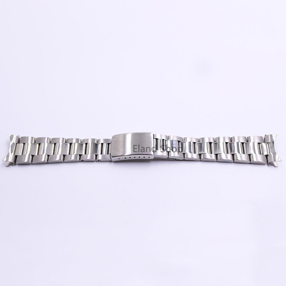 CARLYWET 19 20mm Rustfrit stål Sølv Mellem polsk Hult buet ende - Tilbehør til ure - Foto 1