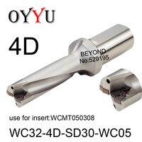 WC32-4D-SD30-WC05 wc 4d broca conjunto de inserção indexável wcmt050308 u perfuração furo raso brocas de refrigeração buraco viu original