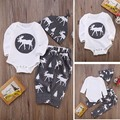 SY210 baby rompers set 2016 Autumn Children's Clothing Christmas overalls + pants + hat 2 pcs. Baby Girl Clothes Baby Clothing