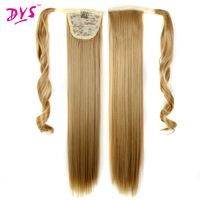 Deyngs 24inch Straight False Hair Ponytail Clip In Hair Tail Hairpieces With Hairpins Synthetic Hair Pony