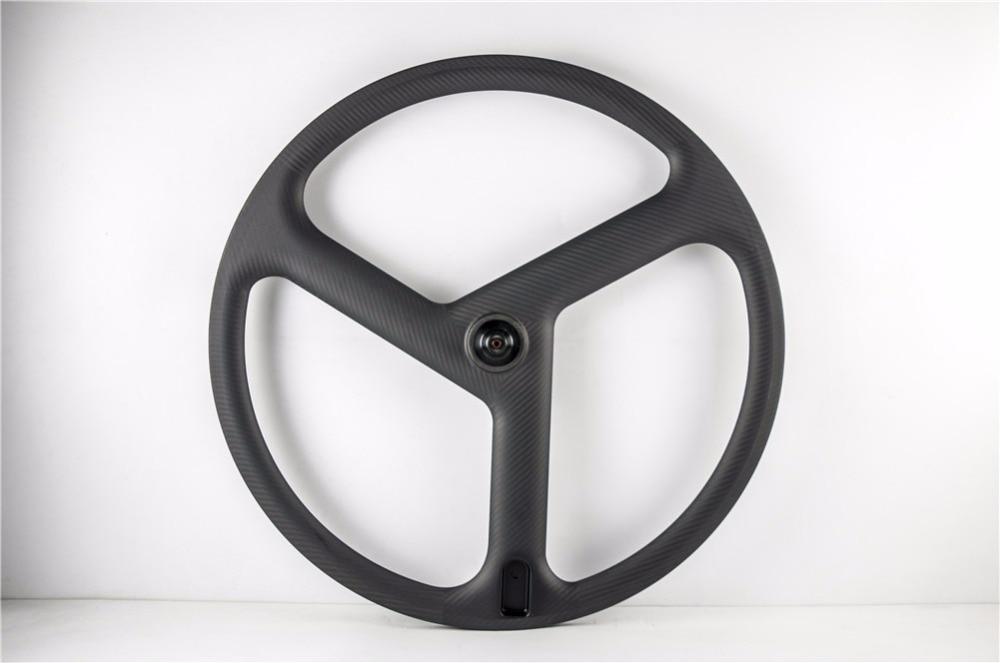 3 spoke fixie wheels carbon track wheels custom fixed gear tri spoke wheelset tubular 23mm width