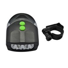 Bicycle Light 3LED Bicycle Front Light Outdoor Cycling Lamp Electronic Bell Horn Hooter Waterproof Universal Bike Head Light