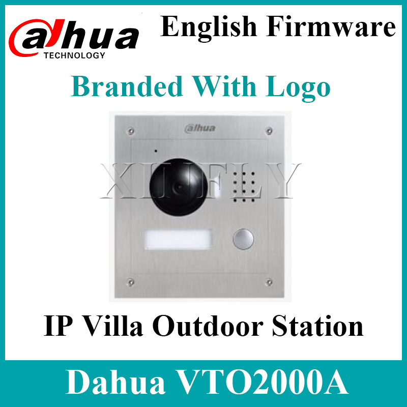 Dahua VTO2000A IP Villa Outdoor Station 1.3MP Video Door Phone Remote Intercom With Mobile APP For VTH1550CH VTH1510CH With Logo