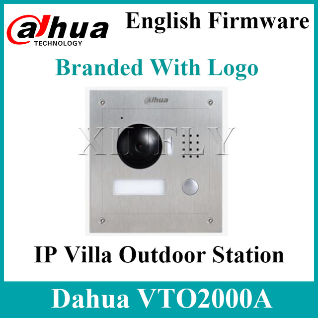Dahua VTO2000A  S1 IP Villa Outdoor Station 1.3MP Video Door Phone Remote intercom with mobile APP for VTH1550CH S2With Logo