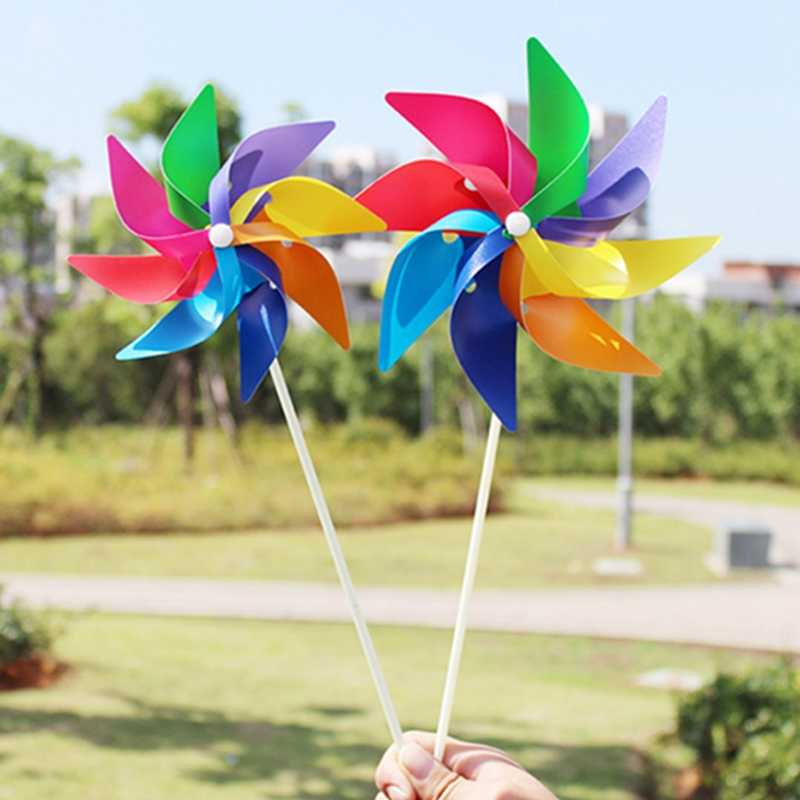 Lovely handmade Wind Spinner Garden Yard Party Camping Windmill Wind Spinner Ornament Decoration Kids Toy New