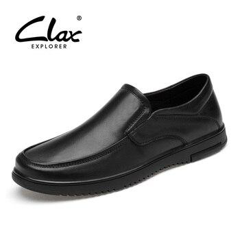 CLAX Man Shoes 2019 Spring Summer Mens Dress Shoe Genuine Leather Male Formal Shoe Wedding Footwear Soft clax mens shoes leather 2019 spring summer male casual shoe fashion man s sneakers leisure walking footwear