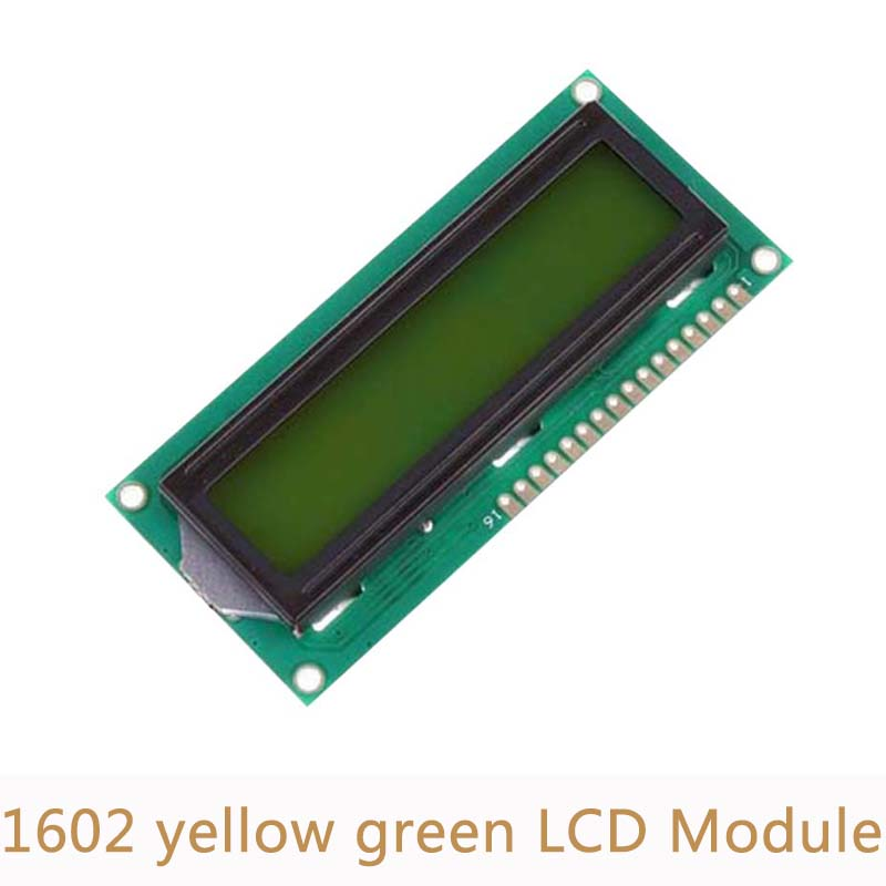 5pcs/lot 5V 1602 LCD display module white character yellow green blacklight for Arduino Duemilanove Robot