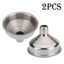 2 Pcs Stainless Steel Funnel for Flask Liquor Bottle Funnel Stainless Steel(China)