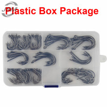 JSM 130pcs 9260 High Carbon Steel Fishing Hooks Saltwater Fishing Faultless O'shaughnessy Bait Fishhooks Set With Box