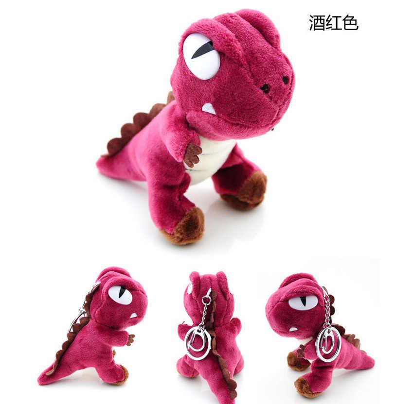 1X BONITO Kawaii COR Aleatória Dinossauro Chaveiro Pingente BONECA de BRINQUEDO de Pelúcia, dragão Macio Brinquedos de Pelúcia Bouquet