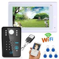 YobangSecurity Video Intercom 7 Inch Monitor Fingerprint RFID Password Wifi Wireless Video Door Phone Doorbell Camera