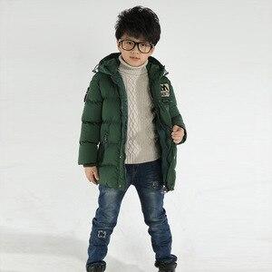 Image 5 - 2018 חדש בגדי ילדים בני כותנה מעיל ילד חם עבה חורף מעיל מעיל ילד כותנה מרופדת חורף מעיל סלעית