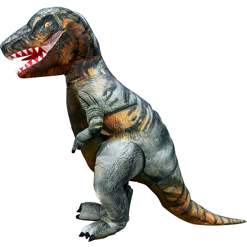 2018 Newest Raptor Dinosaur Giant Outdoor Inflatable Toy T REX Costumes Halloween Carnival Deluxe Purim Adult Party Fancy Dress