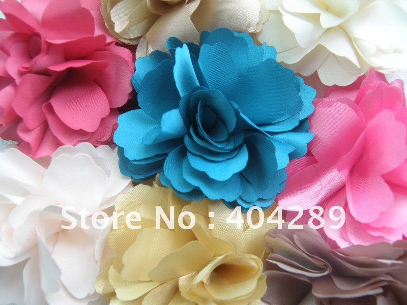Hot Selling Wholesale 100pcs Camelia Flower Hair Clip Brooch Many New Color For Choose Individual Packs