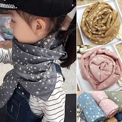 Hot Girl's Kids Star Pentagram Warm Shawl Autumn Winter Gift   Wraps   Stole Soft   Scarf   N83Y 7FYA