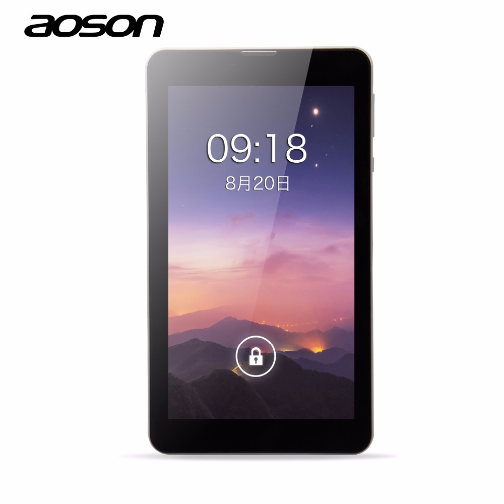 7 inch tablets android 5.1 Aoson M701FD 4G LTE Phone Call Tablet PC MTK8735 Quad Core 1GB RAM 8GB ROM GPS Tablet with good pirce sosoon x88 quad core 8 ips android 4 4 tablet pc w 1gb ram 8gb rom hdmi gps bluetooth white