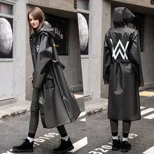 Long Raincoat Women Men cloak Waterproof  Hooded Rain Coat Ponchos Jackets Female Chubasqueros with belt