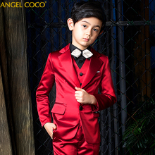 цена на Suit for Boy Single Breasted Boys Suits for Weddings Costume Enfant Garcon Mariage Prom Boys Blazer Jogging Garcon Kids Suits