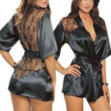 Sexy Lingerie Robe Dress Women Porno Lingerie Sexy Hot Erotic Underwear Plus Size Nightwea