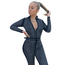 hot deal buy muxu bodysuit rompers womens jumpsuit rompers deep v neck long sleeve fashion body suit combishort one piece glitter party