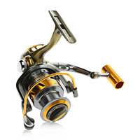 Exbert 2000 6000 Gear Ratio: 5.0 : 1 12 + 1 Bearings Fishing Reel Waterproof Fishing Spinning Reel With A Small Bag YL 04