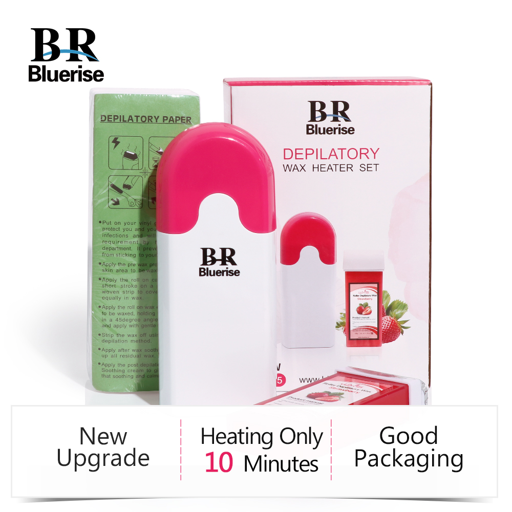 Set Professional Roll-On Cartridge Depilatory Wax Heater Waxing Paper Hair Removal Wax Warmer Machine Epilator kit