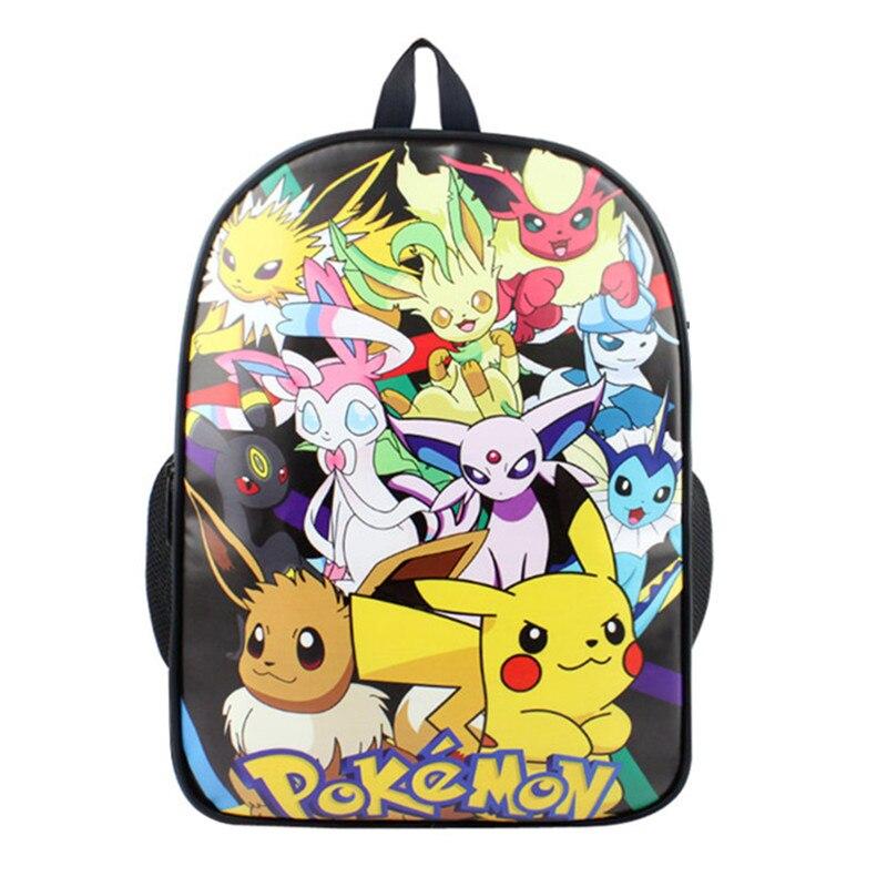 miglior sito web 945a1 a6bcd US $15.99 |Pokemon zaino ragazzi ragazze borse da scuola bambini pikachu  zaino per gli adolescenti regalo dei capretti zaini mochila zaino ...