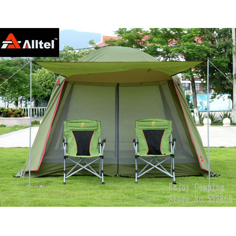 Alltel high quality double layer ultralarge 4-8person family party gardon beach camping tent gazebo sun shelter pergola alltel high quality double layer ultralarge 4 8person family party gardon beach camping tent gazebo sun shelter